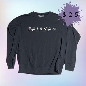 Friends theme sweater in black
